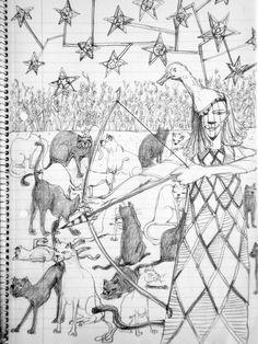 Gato con gatos   Ilustración de Susana Viñuela