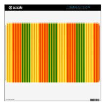 Rasta Stripes macbook skin
