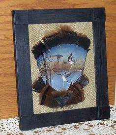 Wildlife Painted Turkey Feathers Ducks Framed OFG by raggedyjan, $20.98