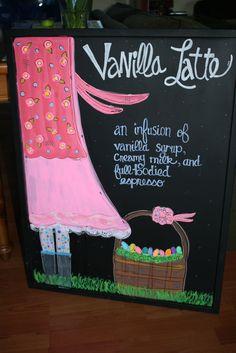 my april cafe sign, spring cafe