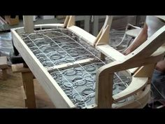 Springing A Sofa, Kindel Furniture Company - YouTube