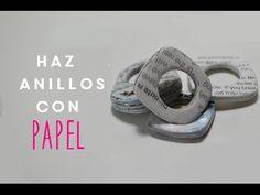 DIY Cocoa Abalorios: Anillo de papel de periódico (Recicla bonito)