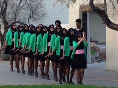 Alpha Kappa Alpha's Tau Phi chapter, chartered 4-13-14. (First undergraduate AKA chapter in New Mexico.)