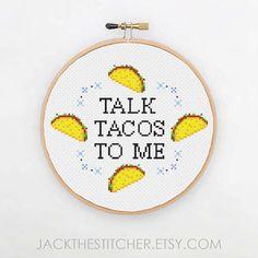PDF ONLY Talk Tacos To Me Modern Subversive Cross Stitch