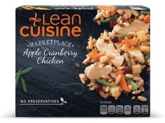 Tender grilled white meat chicken is complimented with sweet cranberries, lightly seasoned vegetables and orzo pasta for the perfect frozen meal with of protein. Cranberry Chicken, Lean Cuisine, Meat Chickens, Frozen Meals, White Meat, Grilled Chicken, Pasta Salad, Real Food Recipes, Green Beans