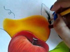 PINTURA EN TELA mango y cereza con cony
