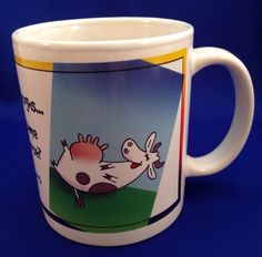 LEANIN TREE Cow Coffee Mug When A Cow Laughs Does Milk Come Out Her Nose? Snot…