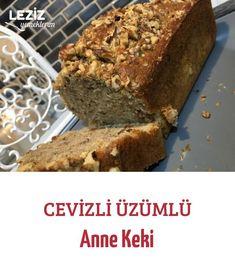 Cevizli Üzümlü Anne Keki Banana Bread, Tart, Anne, Cooking, Desserts, Food, Cuisine, Tailgate Desserts, Cake