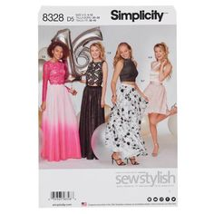 Buy Simplicity Women's Occasion Dress Sewing Pattern, 8328 from our Sewing Patterns range at John Lewis & Partners. Free Delivery on orders over Formal Tops, Formal Prom, Simplicity Sewing Patterns, Dress Sewing Patterns, Clothing Patterns, Patron Simplicity, Chiffon, Robes D'occasion, Elegant Dresses For Women