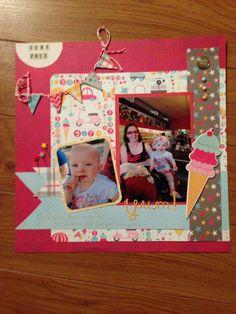 pinterest summer scrapbook layouts   Summer scrapbooking layout