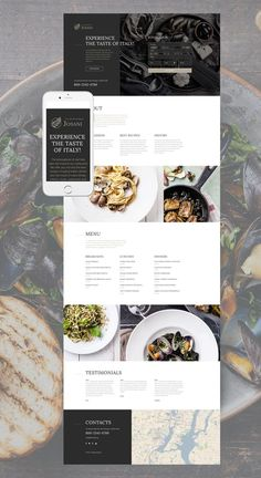 Italian Restaurant Responsive Landing Page Template web design ideas Design Websites, Web Design Trends, Web Design Quotes, Web Design Software, Web Design Company, Design Ideas, Layout Design, Website Design Layout, Web Layout