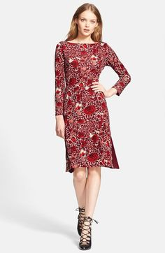 Tory Burch 'Ria' floral print shift dress available at Nordstrom.