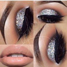 Photo: Love this glitter cut crease
