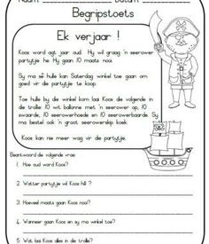 Die stories is self geskryf en uitgedink en sluit die volgende in: Ek verjaar ! Zak en Mia - Oor 2 honde Koek resep By die see Boer Ben Teaching Skills, Teaching Aids, Teaching Reading, Free Printable Alphabet Worksheets, First Grade Math Worksheets, Kindergarten Worksheets, Afrikaans Language, Learning Support, Preschool Learning