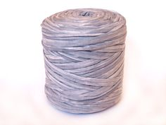 Grey bleached T-shirt yarn recycled t shirt yarn by ItchyToStitch