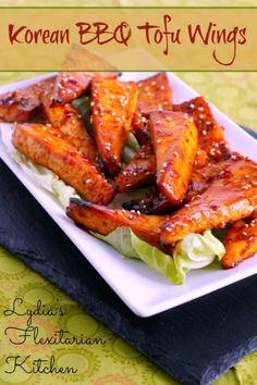 "Try my Korean BBQ Tofu ""Wings"" for a fun change of pace! Vegetarians and omnivores alike will love them!"