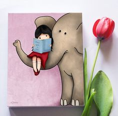 Love these paintings for Bella's room!!