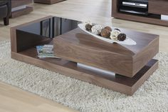 Jual Furnishings Cube Coffee Table in Walnut - JF613CT Features: Minimal Home Assembly Required Contemporary Italian Design Smooth Soft Close Concealed Drawer Matching Range Available (Lamp Table, Sideboard, TV Stand) Dimensions: W1200 x H350 x D600mm Special Price: £349.00
