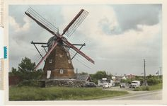 Sweden: circa 1962 RPPC view of a Windmill Street Scene ----- Morup. Windmills, Sweden, Street, World, Ebay, Wind Mills, The World, Roads, Walkway