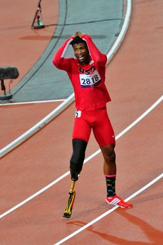 Richard Browne after winning silver in his race at the 2012 Paralympic Games in London