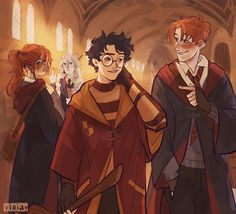 Do you ever think about for how long Ginny's had an unrequited crush on Harry? Gina Harry Potter, Harry Potter Comics, Harry And Ginny, Mundo Harry Potter, Harry Potter Artwork, Harry Potter Drawings, Harry Potter Ships, Harry Potter Anime, Harry Potter Pictures