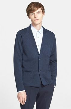 $950, Lanvin Milano Knit Wool Jacket. Sold by Nordstrom. Click for more info: https://lookastic.com/men/shop_items/297831/redirect
