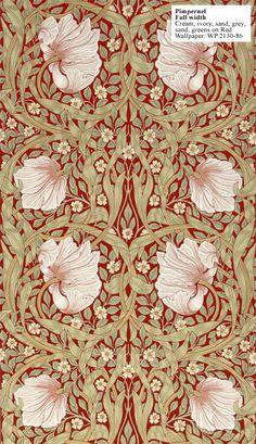 Wallpaper, Pimpernel II, William Morris 1876