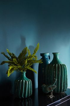 """BOWERY BLUE. """"Rich, vibrant and intoxicating, Bowery Blue looks incredible when teamed with dark shades, shimmery metallics, and materials that play with light. Think glass, silk, glossy surfaces. It's a glam, sophisticated colour, endlessly uplighting, trustworthy and dynamic""""."""