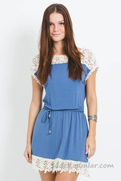 This Pin was discovered by Han Cute Dresses, Beautiful Dresses, Casual Dresses, Fashion Dresses, Casual Outfits, Short Sleeve Dresses, Summer Dresses, Blouse Designs, Spring Outfits