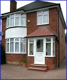 Beautiful car porch design why not look here Porch Uk, Front Door Porch, House With Porch, House Front, Front Doors, Front Porches, Porch Designs Uk, Porch Roof Design, Sas Entree