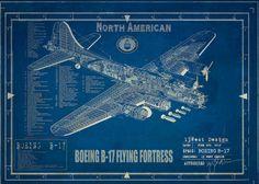 Ww2 Aircraft Blueprints  mustang P51 boeing B17 by 13WestDesign, $75.00