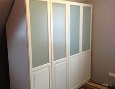 ikea pax wardrobe custom cut to fit sloped wall like. Black Bedroom Furniture Sets. Home Design Ideas