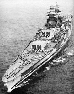 A nice shot of the Battleship Richelieu - 1939! 8.15