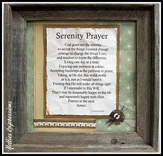 Frame - Serenity Prayer