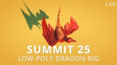 LOW POLY DRAGON MODELING + TEXTURING + RIG  by: Mt. Mograph!