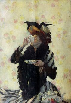 © Lilian Westcott Hale - Una tazza di té (1909)