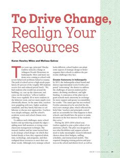 To Drive Change, Realign Your Resources, from Educational Leadership - Summer 2017 School Leadership, Leadership Activities, Educational Leadership, Educational Games, School Counseling, Educational Technology, Leadership Qualities, Leadership Coaching, Leadership Quotes