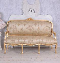 Franzoesische-Sitzbank-Antik-Sofa-Barocksofa-Salonmoebel-Barock