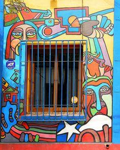 Window-Mural | Santiago, Santiago Metropolitan Region, Chile Travel Art, Illustration, Drawings, Street Mural, Painting, Art, Wall Painting, Graffiti Art, Art World