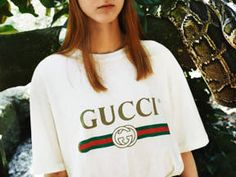 Refreshed by Alessandro Michele, a vintage House logo on T-shirts and sweatshirts.