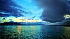 Sunset at manado bay