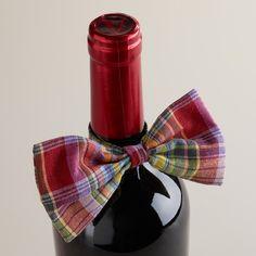 Assorted Preppy Wine Bottle Bow Ties, Set of 4 | World Market