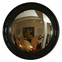 View this item and discover similar for sale at - Six ebonized convex mirrors in sizes from 15 - 18 diameter. Convex Mirror, Mirrors, Harrods Christmas, Jade Bonsai, Vintage Kitchenware, Ginger Jars, 1920s, Stained Glass, Frames