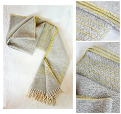 L i n e s  Blanket.  Limited Edition Hand-Embroidered Wool Throw Blanket. Choose Your Embroidery Color