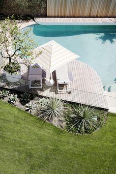 Wyer & Co. | California Dreamin' Backyard Pool Landscaping, Backyard Pool Designs, Pool Fence, Backyard Plants, Patio Design, California Pools, California Backyard, Pool Landscape Design, Landscape And Urbanism