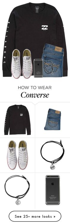 """How Long Does It Take For Y'all To Get Ready?"" by twaayy on Polyvore featuring Billabong, Abercrombie & Fitch, Converse and Alex and Ani"
