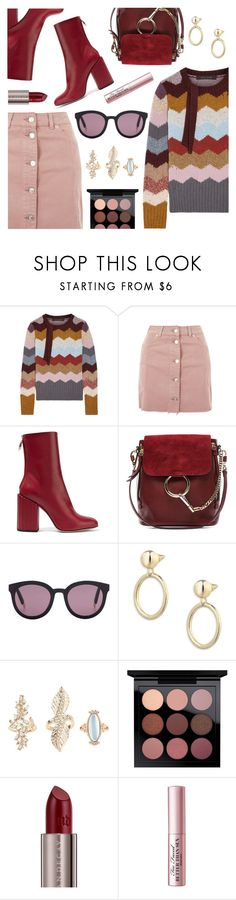 """""""Outfit of the Day"""" by dressedbyrose ❤ liked on Polyvore featuring Marc Jacobs, Topshop, Petar Petrov, Chloé, Gentle Monster, Eddie Borgo, Charlotte Russe, Urban Decay, Too Faced Cosmetics and ootd"""
