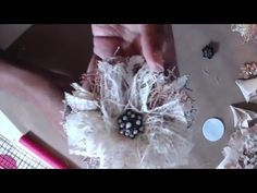 Shabby Chic Linen Flower Tutorial - YouTube