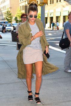 Celebrity Fashion - Sofia Richie - Army Jacket | Teen Vogue