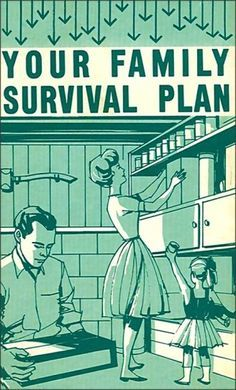 Family Bunker Plans 361413938831870458 - Your Family Survival Plan, 1963 – cold war bomb shelter. Chilling reminder of yet another unstable political era. Source by javierproyectos Survival Guide, Survival Skills, Survival Quotes, Survival Gear, Survival Hacks, Survival Videos, Apocalypse Survival, Wilderness Survival, Zombie Apocalypse